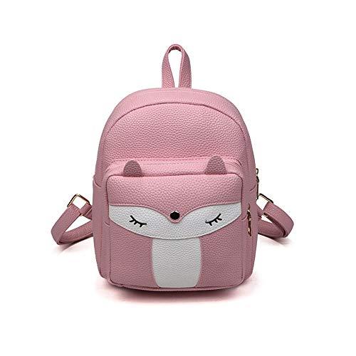 (Cute Fashion Shoulder Bag Travel Bag Rucksack Mini Leather Backpack for Girls (Pink))