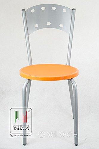 Sedia Da Cucina Plastica.Stil Sedie Sedia Da Cucina Con Struttura In Metallo Verniciato