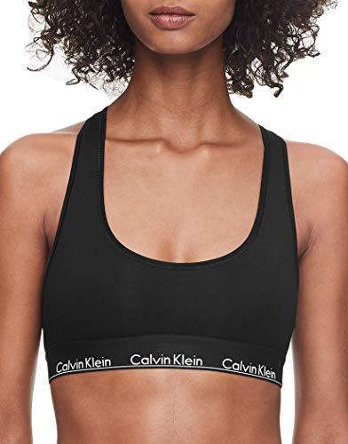Calvin Klein Women's Regular Modern Cotton Bralette, Black Waistband, XS