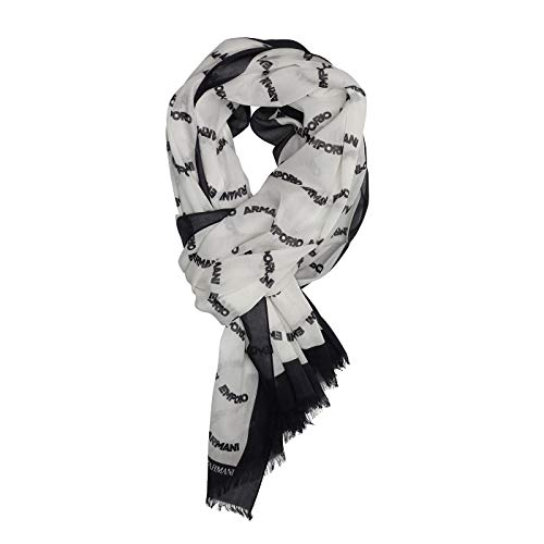 Emporio Armani Women's Cotton Scarf with Logo Detail