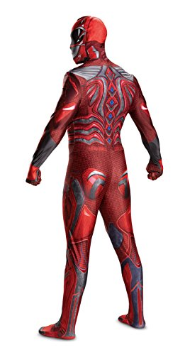 Disguise Men's Ranger Movie Bodysuit Costume, Red, Medium by Disguise (Image #2)
