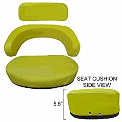 John Deere Yellow 3-Piece Deluxe Steel Cushion &am