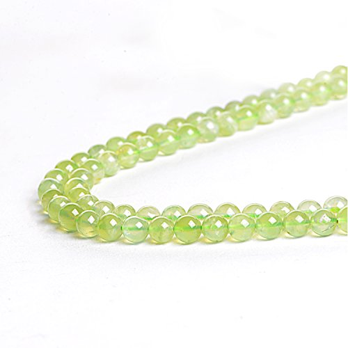 Natural 10mm Prehnite Loose Beads Round Crystal Quartz Energy Healing Power Stone Beads for Jewelry Making&DIY