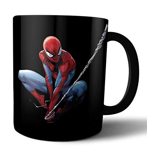 Caneca de porcelana preta Homem Aranha Live Comics - preto - único