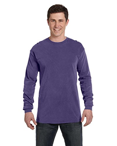 Comfort Colors 6014 Adult Heavyweight Ringspun Long Sleeve T-Shirt - Grape - M