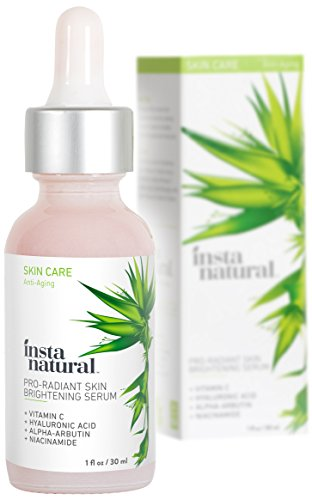 Skin Brightening Serum with Vitamin C - Advanced Antioxidant Serum for Firming Wrinkles, Fine Lines - Lightening Dark Spots, Hyperpigmentation - With Hyaluronic and Niacinamide - InstaNatural - 1 (Advanced Acne Pads)