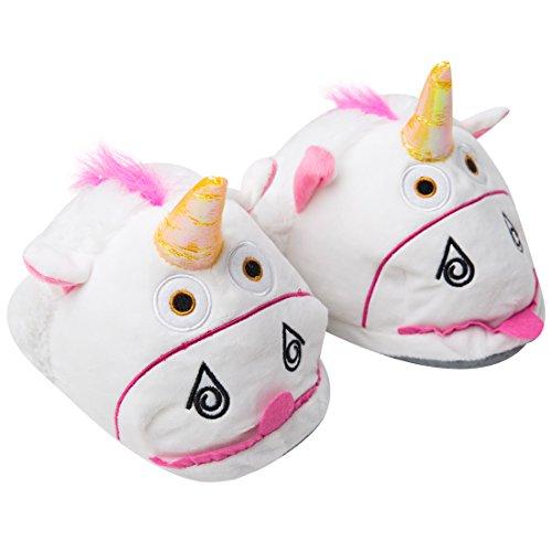 Pantofole Luckly Regalo Europea Adulti 41 Bianco2 Compleanno Unicorno Cosplay Cloud Unisex di di LED a Ciabatte Taglia Peluche Halloween Calde UK 36 Pantofole 8fr8xHOq