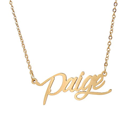 Name Bar Necklace Paige
