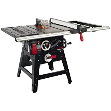 Sawstop CNS175-SFA30 1-3/4 HP Contractor Saw with 30 Aluminum Extrusion Fence and Rail Kit
