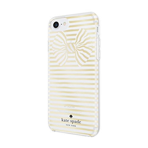 best service e2445 a7a73 kate spade new york Protective Hardshell Case for iPhone 8, iPhone 7,  iPhone 6s, iPhone 6 - Painterly Bow Gold/Clear