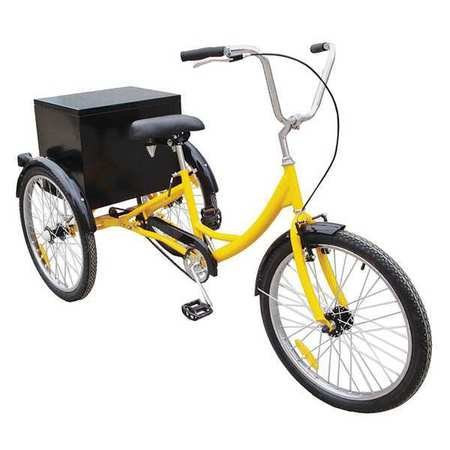 Industrial Tricycle, 24 In, Rear Cabinet