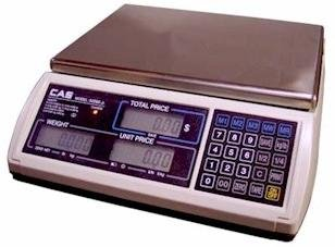 CAS S2JR15L S2000 Jr Series Price Computing Scale, 15lb Capacity, 0.005lb Readability, LCD Display