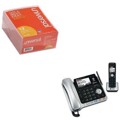 KITATTTL86109UNV48023 - Value Kit - Atamp;t TL86109 Two-Line DECT 6.0 Phone System with Bluetooth (ATTTL86109) and Universal Important Message Pink Pads (UNV48023)