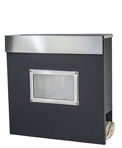 Designer Briefkasten Mailbox Modell 334a D S Anthrazit Ral7016