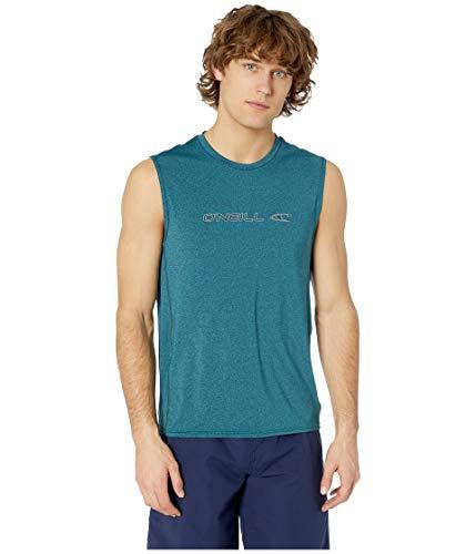 - O'Neill Wetsuits Men's Hybrid UPF 50+ Sleeveless Sun Shirt, Teal, Medium