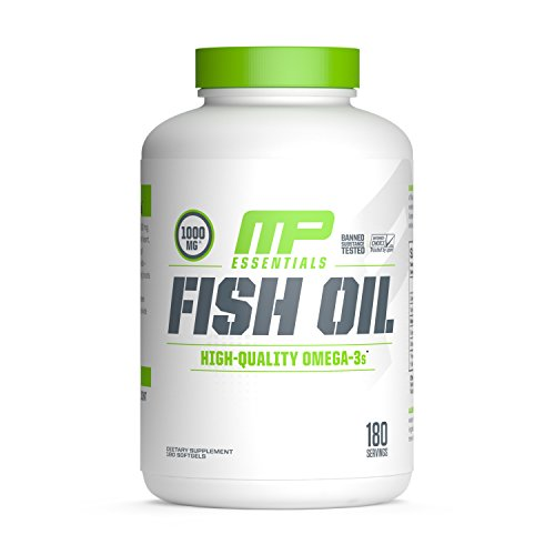 MusclePharm Fish Oil Essentials Soft gel, 180 Count