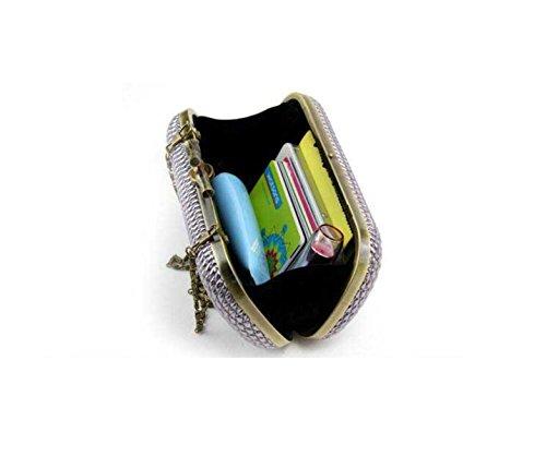 Soirée Black à Boucle Mobile Main Sac Téléphone Dame Sacs Rayé Mode Femme BcIPwT