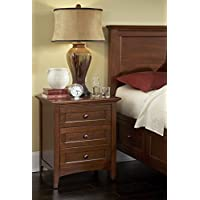 A-America WSLCB5750 Westlake 3 Drawer Nightstand, Cherry Brown Finish