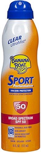 Banana Boat UltraMist Sport Sunscreen, SPF 50 6 oz Pack of 8