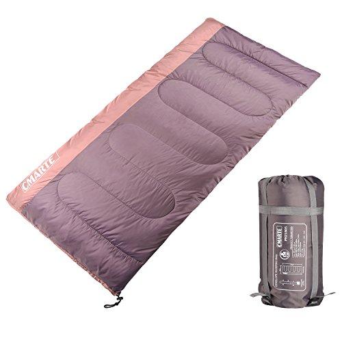 cmarte Backpacking Cotton Sleeping Bag, Portable Outdoor Hiking Camping Sleeping Bag for Men/Women