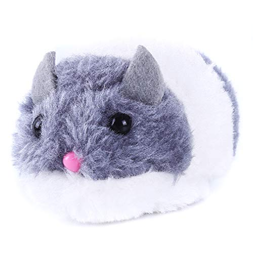 HENGSONG Funny Pet Puppy Toy Cat Playing Toy Shaking Cute Plush Fat Mouse,Gray