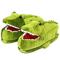 GenePe Winter Cotton Shoes Warm Crocodile Animal Cartoon Indoor Outdoor Non-Slip Slippers Unisex Women Plush Winter Shoes Anime Slippers