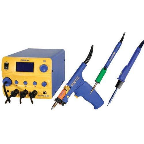Hakko FM206-DSA 3 Port Rework Station w/Desoldering Tool, Soldering Iron & Hot Air Handpiece