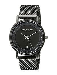 Stuhrling Original Men's 734GM.03 Classic Ascot Casatorra Elite Swiss Quartz Date Black Mesh Bracelet Watch