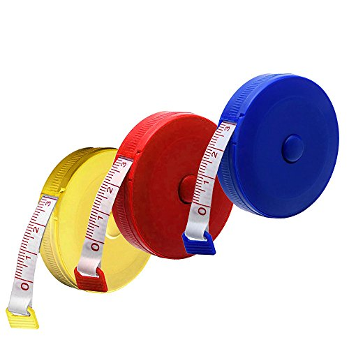 Libobo1x Random Color Retractable Tape Measure Sewing Dieting Tapeline Ruler Tiny Tool