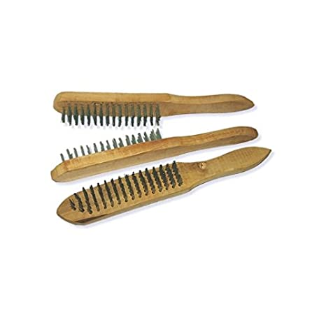 3x Drahtb/ürste Stahlb/ürste Handb/ürste Stahl B/ürste Stahldraht B/ürste