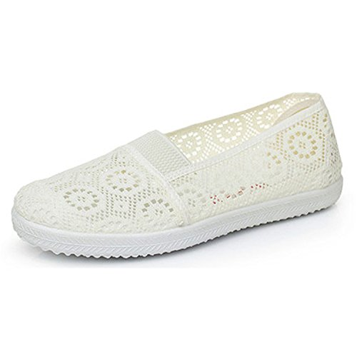 Price comparison product image CuteStyleCiCi Casual Nest Insole Flat Shoes Slip On Mother Shoes 5~9 XWF311 beige 9
