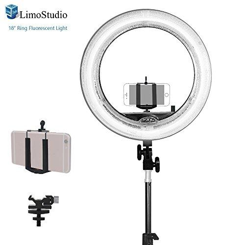 Fluorescent Light Ring: LimoStudio 18 Inch Fluorescent Ring Light 5500K Dimmable