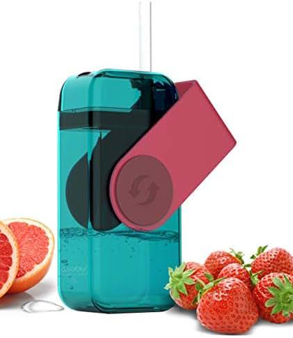 asobu Juicy Drink Box The Ultimate Unbreakable Reusable 10oz Water Bottle for Kids Bpa Free (Red)