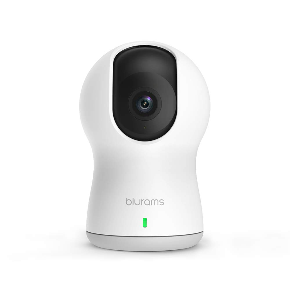 blurams Dome Pro, 1080p Security Camera with Siren | PTZ Surveillance System with Human/Sound Detection, Person Alerts, Privacy Mode, Night Vision | Cloud/Local Storage Available | Works with Alexa
