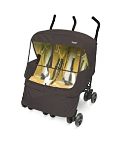 Manito Elegance Alpha Twin Stroller Weather Shield / Rain Cover (Chocolate)