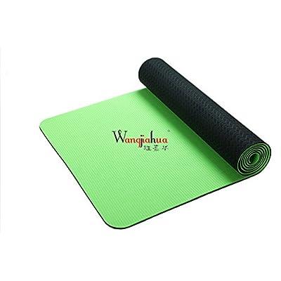 Tapis de yoga antidérapant haute densité anti-déchirure antidérapant respectueux de l'environnement d'exercice TPE Tapis de yoga 182,9x 61cm, épaisseur 1/10,2cm (Deep Purpl