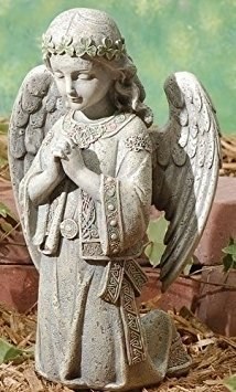 Celtic Kneeling Angel Statue - Kneeling Garden Statue
