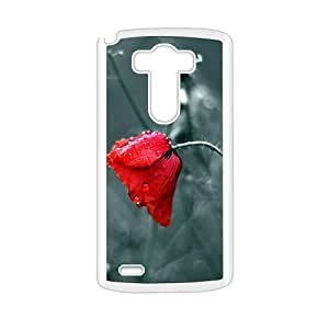 Personalized protective cell phone case for LG G3,Fresh fire red flower design