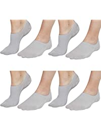 a5e4713578 No Show Socks For Women Casual Low Cut Sock Liners With Non Slip Grips  Women s Cotton