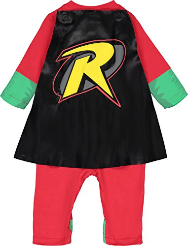 Warner Bros. Justice League Robin Baby Boys' Zip-Up Caped Costume Coverall (18 Months) by Warner Bros. (Image #2)