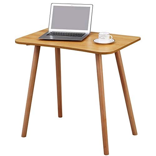 JIWU Basic Small Home Office Desk Laptop Table with Solid Wood Leg for Small Space 31.5x19.7x29.5 inches