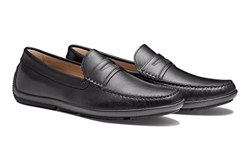 MORAL CODE Men's Leather Driver Shoe London Black Leather 12 M US Men