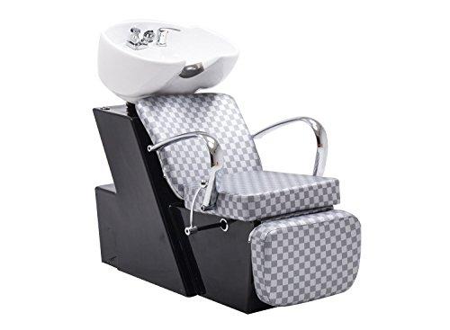 BarberPub Backwash Ceramic Shampoo Bowl Sink Chair Station Beauty Spa Salon Equipment 0648 from BarberPub