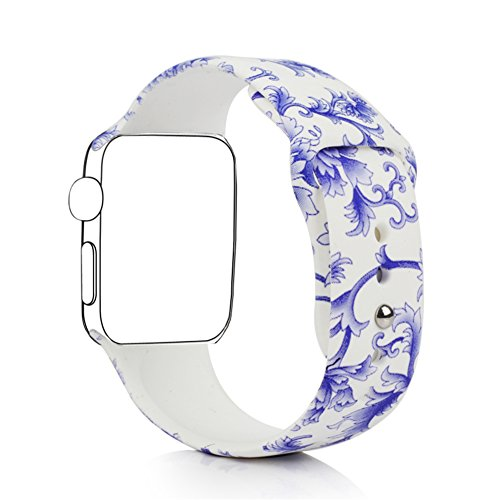 Blesihu Replacement Band for Apple Watch Series 2 Series 1, Strap Bands for iwatch, Silicone Sport Style Wristband, Personalized Design, 16 Colors, Both 38mm and 42mm Models Available