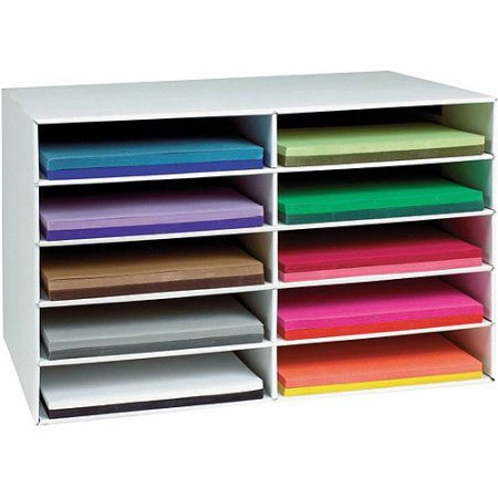 10-Slot Paper Storage Organizer, Sturdy and Lightweight