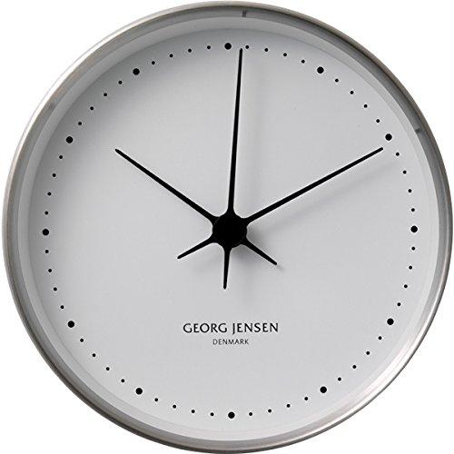 Georg Jensen コッペル ウォールクロック ステンレススティール ホワイトダイヤル アナログ 15cm シルバー 3587554 B001GZQ7QEホワイト/シルバー(15cm)