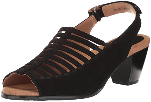 Trotters Women's Minnie Sandal, Black Nubuck, 9.0 M US