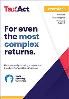 TaxAct Online 2018 Premier+ Federal Edition [PC Online code]