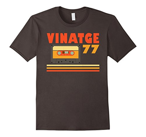 Mens Great 40th Birthday Gift Ideas Vintage 1977 T-Shirt XL Asphalt