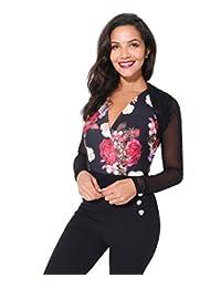 KRISP Women Black Plain Long Sleeve Shrug Cardigan Top Size S/M M/L 7519